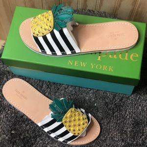 Icarus Studded Leather Pineapple Slide Sandals
